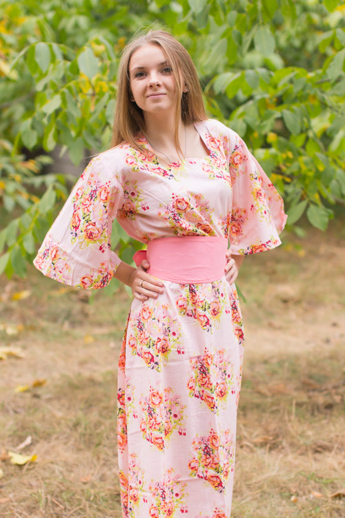 Pink Beauty, Belt and Beyond Style Caftan in Floral Posy|Pink Beauty, Belt and Beyond Style Caftan in Floral Posy|Floral Posy