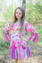 Pink Bella Tunic Style Caftan in Floral Watercolor Painting Pattern|Pink Bella Tunic Style Caftan in Floral Watercolor Painting Pattern|Floral Watercolor Painting
