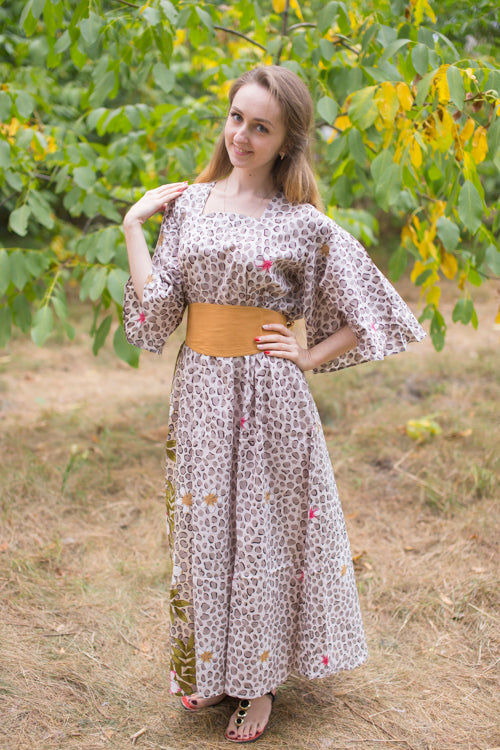 Light Brown Beauty, Belt and Beyond Style Caftan in Fun Leopard