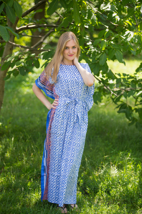 Dark Blue Divinely Simple Style Caftan in Geometric Chevron Pattern|Dark Blue Divinely Simple Style Caftan in Geometric Chevron Pattern|Geometric Chevron