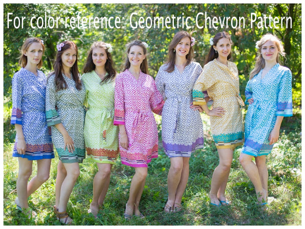 Olive Green Beauty, Belt and Beyond Style Caftan in Geometric Chevron