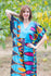Blue Flowing River Style Caftan in Glowing Flame Pattern|Blue Flowing River Style Caftan in Glowing Flame Pattern|Glowing Flame