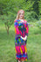 Magenta Button Me Down Style Caftan in Glowing Flame Pattern|Magenta Button Me Down Style Caftan in Glowing Flame Pattern|Glowing Flame