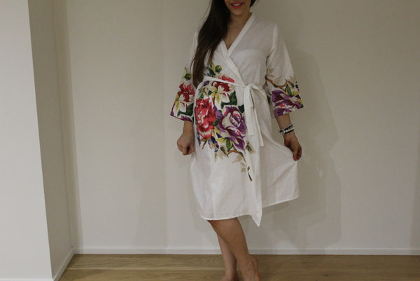 Heart Cutout Robe Back Buttoned Maternity Hospital Gown