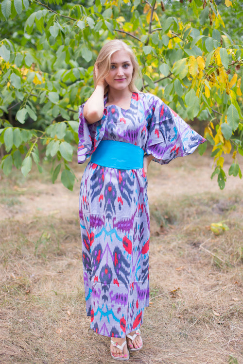 Gray Beauty, Belt and Beyond Style Caftan in Ikat Aztec|Ikat Aztec