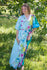 Light Blue Best of both the worlds Style Caftan in Jungle of Flowers Pattern|Light Blue Best of both the worlds Style Caftan in Jungle of Flowers Pattern|Jungle of Flowers
