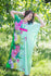 Mint Unfurl Style Caftan in Jungle of Flowers Pattern|Mint Unfurl Style Caftan in Jungle of Flowers Pattern|Jungle of Flowers