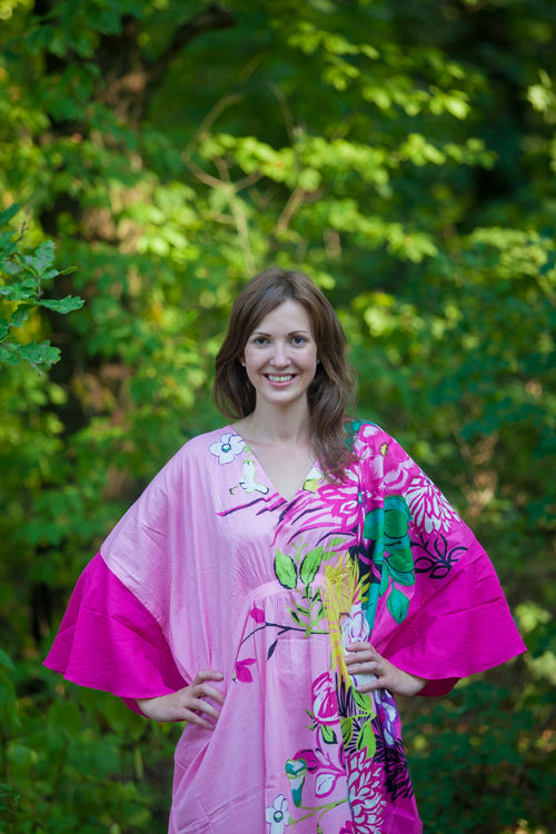 Pink Ballerina Style Caftan in Jungle of Flowers|Pink Ballerina Style Caftan in Jungle of Flowers|Jungle of Flowers
