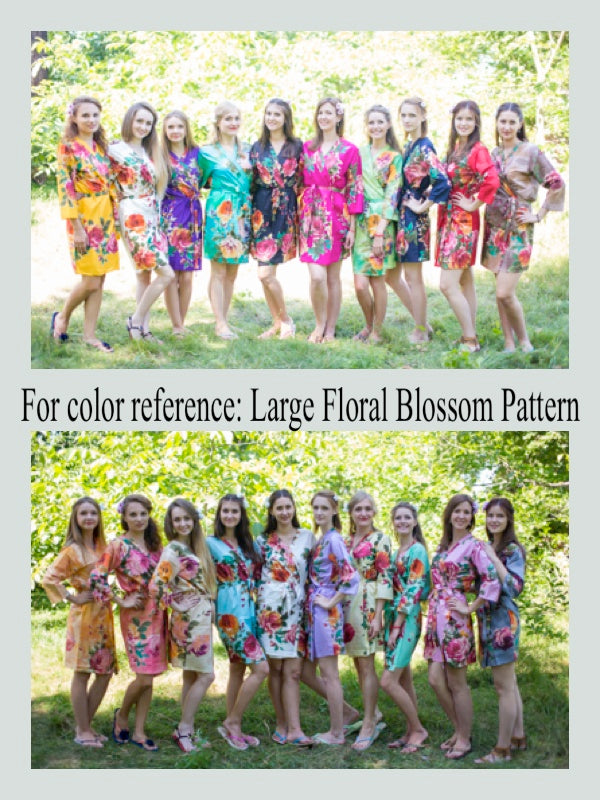 Lilac I Wanna Fly Style Caftan in Large Floral Blossom Pattern