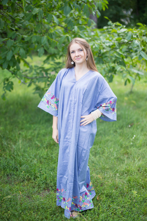 Gray Best of both the worlds Style Caftan in Little Chirpies Pattern