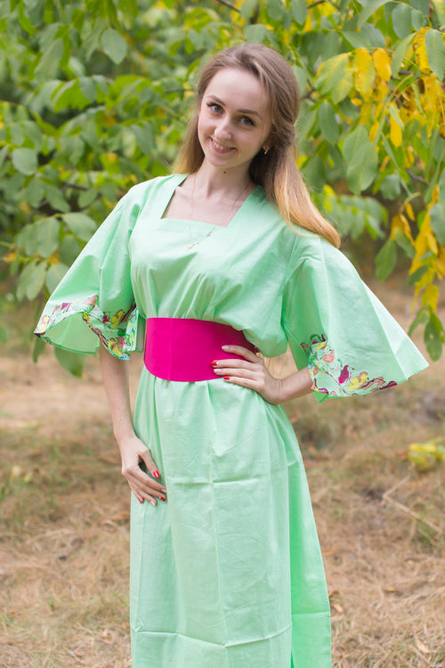 Mint Beauty, Belt and Beyond Style Caftan in Little Chirpies|Little Chirpies|Mint Beauty, Belt and Beyond Style Caftan in Little Chirpies