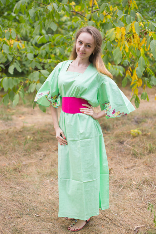 Mint Beauty, Belt and Beyond Style Caftan in Little Chirpies