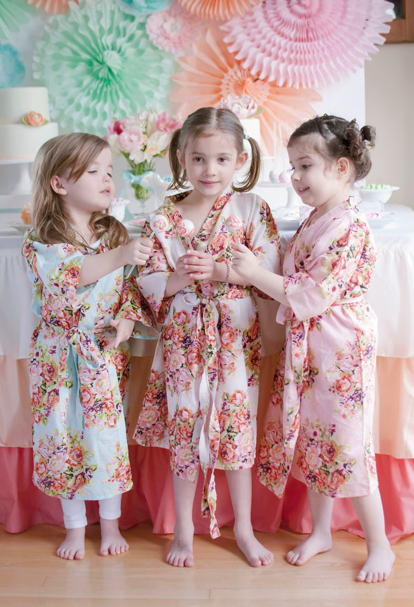 Little Girl Robes - Kids Spa party robes, Kimono Crossover Robes, Perfect Baby shower gift, Kids robes, Photoprops, Mommy Baby Collection|MothersDay2014-6|MothersDay2014-7|C series Collage