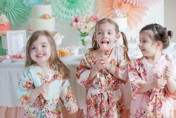 Little Girl Robes - Kids Spa party robes