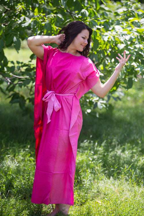 Burgundy Divinely Simple Style Caftan in Ombre TieDye Pattern