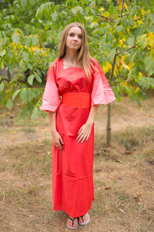 Coral Beauty, Belt and Beyond Style Caftan in Ombre TieDye