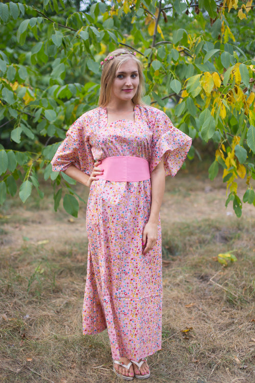 Pink Beauty, Belt and Beyond Style Caftan in Petit Florals