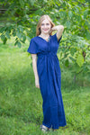Dark Blue Beach Days Style Caftan in Plain and Simple