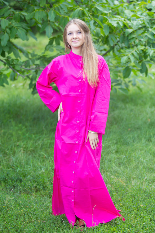 Magenta Charming Collars Style Caftan in Plain and Simple Pattern|Magenta Charming Collars Style Caftan in Plain and Simple Pattern|Plain and Simple