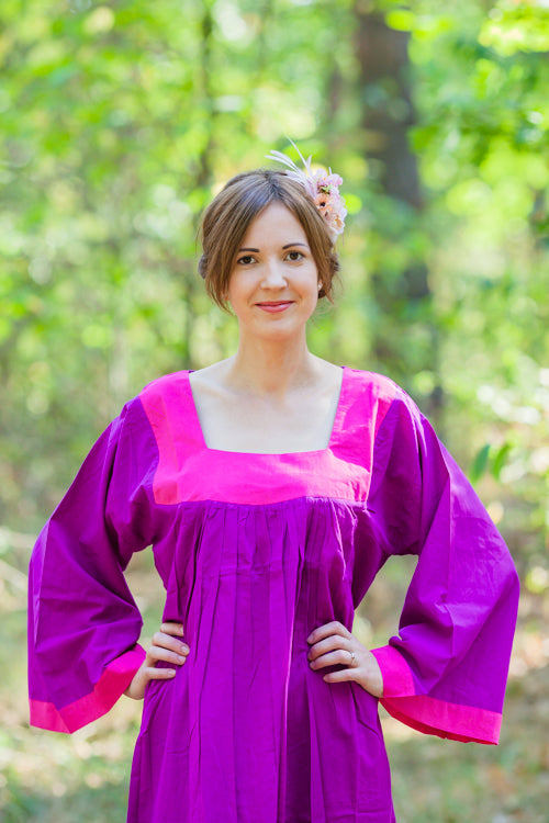 Purple Fire Maiden Style Caftan in Plain and Simple Pattern|Purple Fire Maiden Style Caftan in Plain and Simple Pattern|Plain and Simple