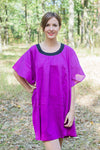 Purple Summer Celebration Style Caftan in Plain and Simple Pattern
