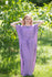 Lilac Divinely Simple Style Caftan in Polka Dots Pattern|Lilac Divinely Simple Style Caftan in Polka Dots Pattern|Polka Dots