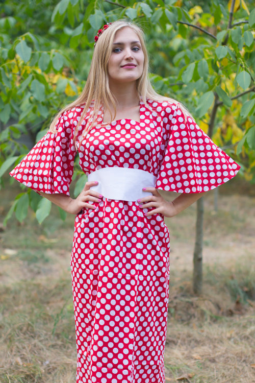 Red Beauty, Belt and Beyond Style Caftan in Polka Dots|Red Beauty, Belt and Beyond Style Caftan in Polka Dots|Polka Dots