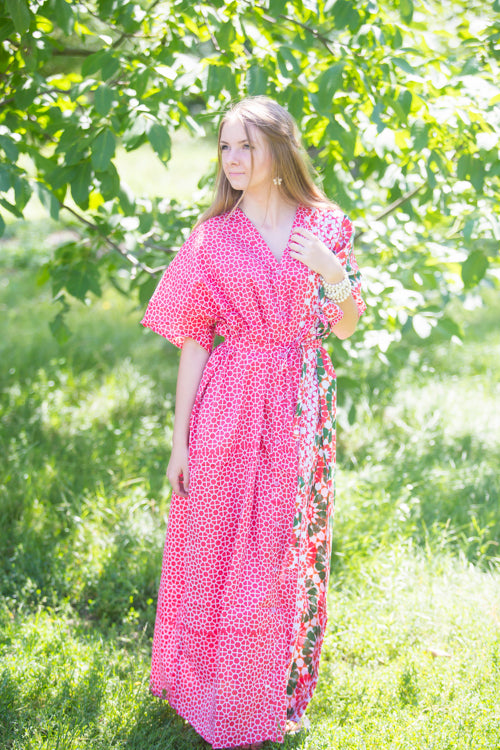 Red Best of both the worlds Style Caftan in Round and Round Pattern