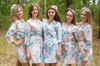 Pink Blooming Flowers Pattern Bridesmaids Robes