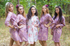 Faded Flowers Pattern Bridesmaids Robes|Amethyst Purple Faded Flowers Pattern Bridesmaids Robes|Faded Flowers|1