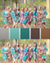 Teal and Brown Wedding Colors Bridesmaids Robes|Teal and Brown Wedding Colors Bridesmaids Robes|Teal and Brown Wedding Colors Bridesmaids Robes