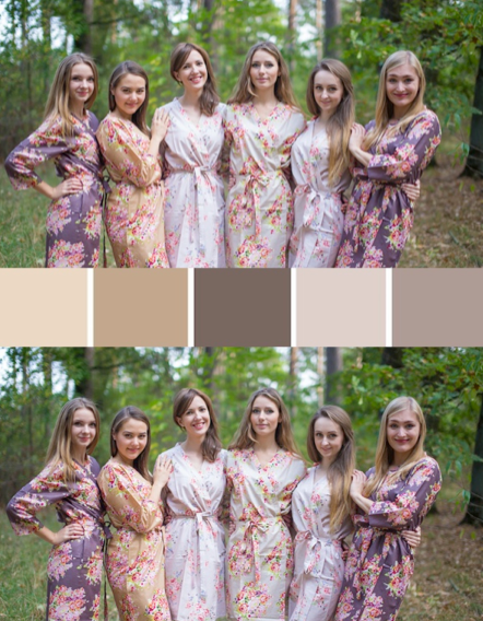 Taupe Brown and Cream Wedding Colors Bridesmaids Robes|Taupe Brown and Cream Wedding Colors Bridesmaids Robes|Taupe Brown and Cream Wedding Colors Bridesmaids Robes|Taupe Brown and Cream Wedding Colors Bridesmaids Robes
