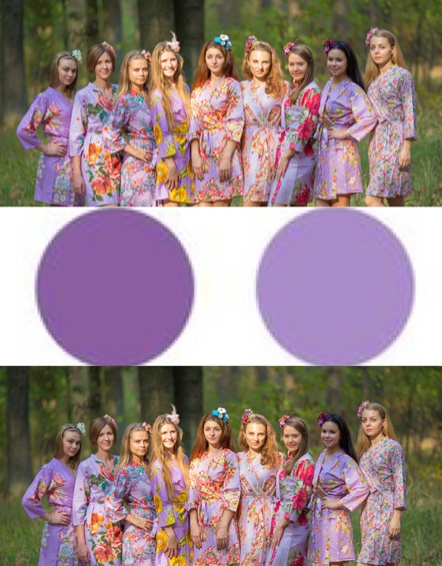 Assorted Lilacs Bridesmaids Robes|Assorted Lilacs Bridesmaids Robes|Assorted Lilacs Bridesmaids Robes