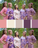 Shades of Purple and Coral Wedding Colors Bridesmaids Robes|Shades of Purple and Coral Wedding Colors Bridesmaids Robes|Shades of Purple and Coral Wedding Colors Bridesmaids Robes|1|2