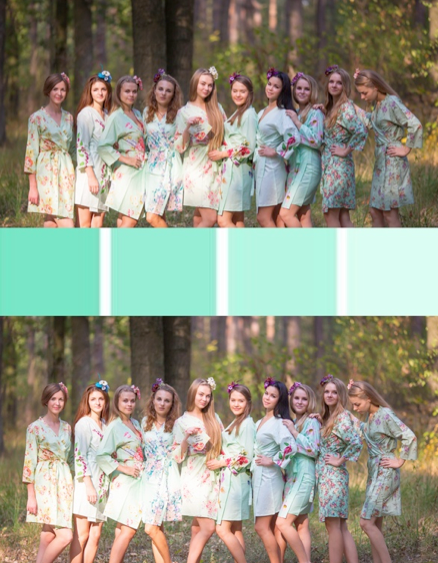 Mismatched Mints Bridesmaids Robes|Mismatched Mints Bridesmaids Robes|Mismatched Mints Bridesmaids Robes