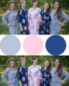 Navy Blue and Gray Wedding Colors Bridesmaids Robes