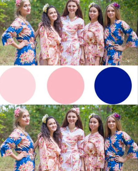 Dark Blue and Blush Wedding Colors, Bridesmaids Robes|Dark Blue and Blush Wedding Colors, Bridesmaids Robes|Dark Blue and Blush Wedding Colors, Bridesmaids Robes|Dark Blue and Blush Wedding Colors, Bridesmaids Robes|2