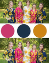 Navy Blue, Gold and Magenta Wedding Colors, Bridesmaids Robes