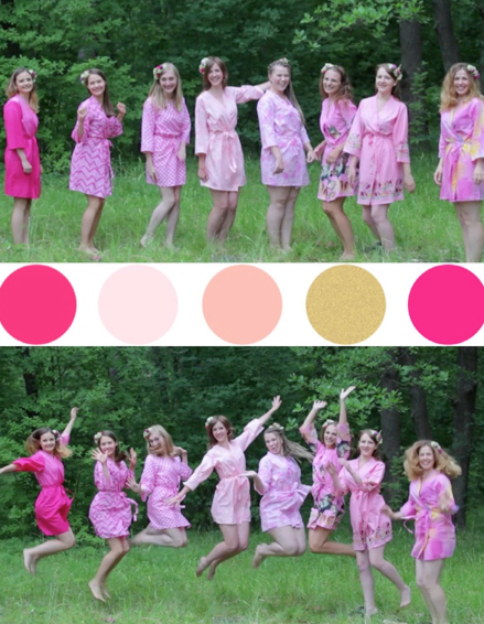 Assorted Pink Patterns, Shades of Pink Bridesmaids Robes|Assorted Pink Patterns, Shades of Pink Bridesmaids Robes|Assorted Pink Patterns, Shades of Pink Bridesmaids Robes|Assorted Pink Patterns, Shades of Pink Bridesmaids Robes|Assorted Pink Patterns, Shades of Pink Bridesmaids Robes