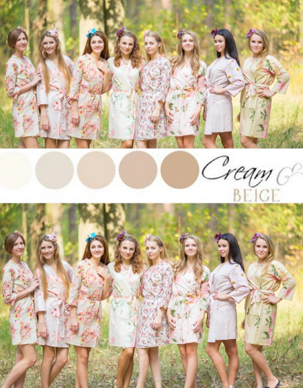 Nude Wedding Colors Bridesmaids Robes|Nude Wedding Colors Bridesmaids Robes|Nude Wedding Colors Bridesmaids Robes