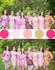 Assorted Pink Patterns, Shades of Pink Bridesmaids Robes|Assorted Pink Patterns, Shades of Pink Bridesmaids Robes|Assorted Pink Patterns, Shades of Pink Bridesmaids Robes