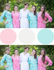 Pink and Mint Wedding Colors Bridesmaids Robes|Pink and Mint Wedding Colors Bridesmaids Robes|Pink and Mint Wedding Colors Bridesmaids Robes
