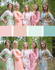 Mint, Peach & Grayed Jade Wedding Colors Bridesmaids Robes|Mint, Peach & Grayed Jade Wedding Colors Bridesmaids Robes|Mint, Peach & Grayed Jade Wedding Colors Bridesmaids Robes