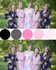 Pink and Black Wedding Colors Bridesmaids Robes|Pink and Black Wedding Colors Bridesmaids Robes|Pink and Black Wedding Colors Bridesmaids Robes