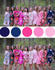 Pink, Fuchsia and Navy Blue Wedding Colors, Bridesmaids Robes|Pink, Fuchsia and Navy Blue Wedding Colors, Bridesmaids Robes|Pink, Fuchsia and Navy Blue Wedding Colors, Bridesmaids Robes