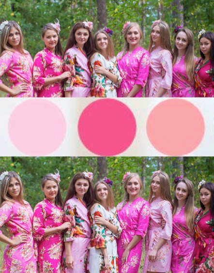 Shades of Pink Wedding palette Bridesmaids Robes|Shades of Pink Wedding palette Bridesmaids Robes|‰Æ'Æ£‡†‰ é´Ï£† ë´†¢'≠·™†Ô  2015.09    (4-6)  2  - 678