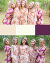 Eggplant and Champagne Wedding Colors Bridesmaids Robes