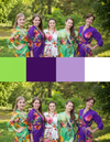 Purple and Green Wedding Colors Bridesmaids Robes