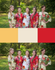 Red and Yellow Wedding Colors Bridesmaids Robes|Red and Yellow Wedding Colors Bridesmaids Robes|Red and Yellow Wedding Colors Bridesmaids Robes