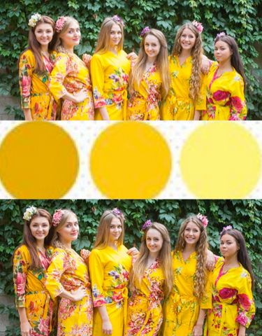 Now trending: Bridesmaids Robes By Wedding Colors
